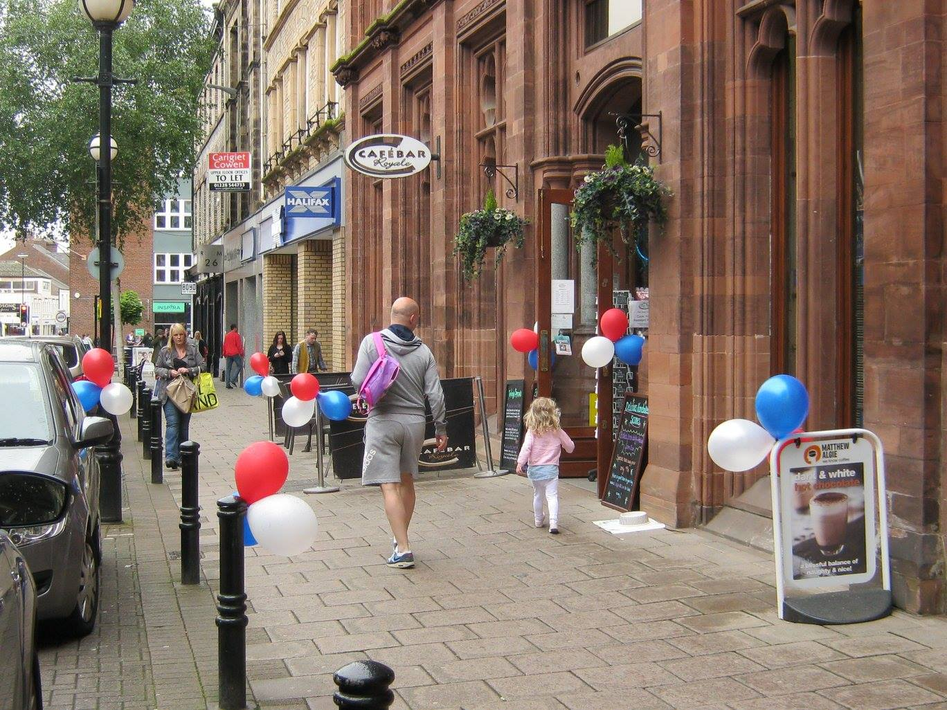 outside celebrations card shop and cafe carlisle