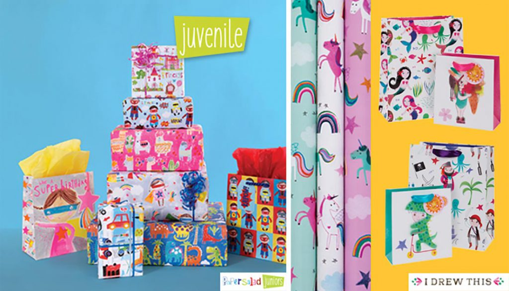 juvenile wrapping paper