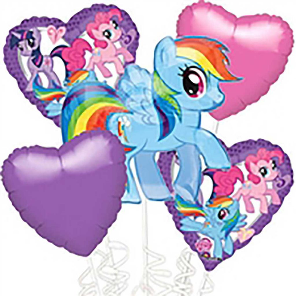 little pony foil balloon
